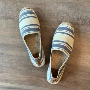 NEW Tory Burch Espadrilles Elastic Awning Stripe